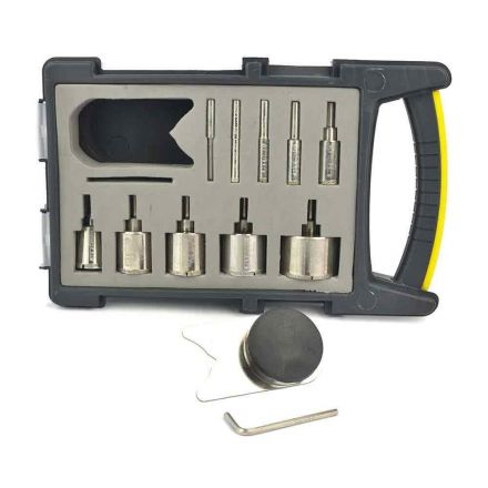 Hydro Handle Diamond Tile Hole Saw Drill Bit Set, Glass, Stone Concrete Tile Saw