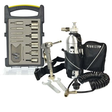 """Hydro Handle HHPSET-K2 1/2"""" Chuck Hydro Handle, Quick Release Water Fittings, Recoil Hose, Hand Pump, Bottle with Carrying Pouch in a Storage Box & the HHBLKIT 10pcs Bit Set"""